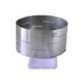 Forma de aço inox cilíndrica para queijo  de até 1,200kg. Básica