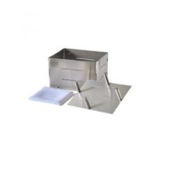 Forma de inox retangular para queijo de até 1.100 g