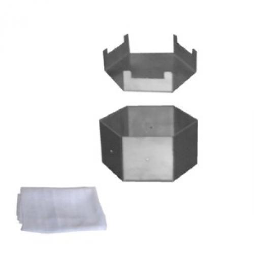 Forma de inox, hexagonal, para queijo de até 1.400 g