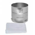 Forma de aço inox cilíndrica para queijo  de até 0,330kg. Básica