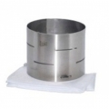 Forma de aço inox cilíndrica para queijo  de até 0,750kg. Básica