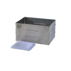 Forma de aço inox retangular para queijo  de até 1,170kg. Básica
