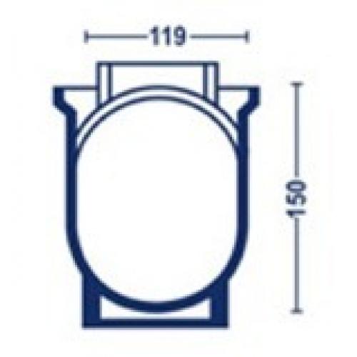 Forma p/ queijo esférico de 1000g