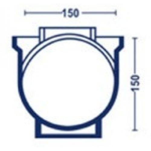 Forma p/ queijo esférico de 1800g